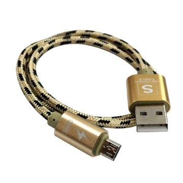 I-WIZ 彰唯USB2.0 A公/Micro B公 金 1M閃充線