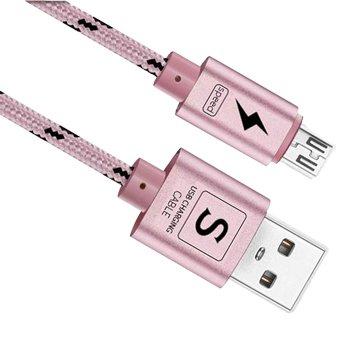 I-WIZ 彰唯USB2.0 A公/Micro B公 玫瑰金 1M閃充線