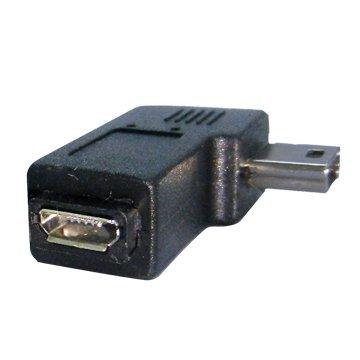 S.C.E 世淇Mini 5pin公/Micro USB母 向左90° 轉接頭