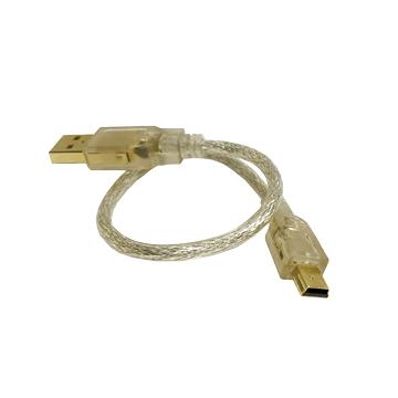 S.C.E 世淇USB鍍金A公-迷你5 PIN 25CM
