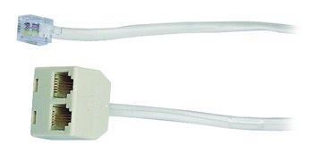 PX 大通 PTC406 1變2美式4蕊電話延長線4.5M