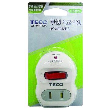 TECO 東元 TTEXYFWPT12A 一開二插擴充座