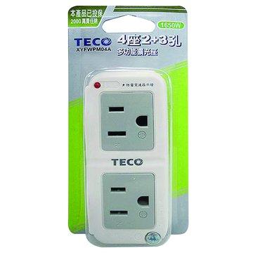 TECO 東元 TTEXYFWPM04A 四插兩面插座