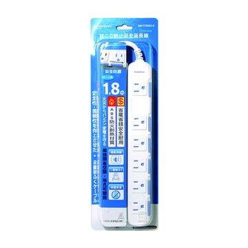 PowerSync 群加 PTR603-6 六插延長線+防塵蓋1.8M