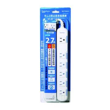 PowerSync 群加 PTR603-9 六插延長線+防塵蓋2.7M