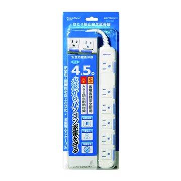 PowerSync 群加 PTR603-15 六插延長線+防塵蓋4.5M