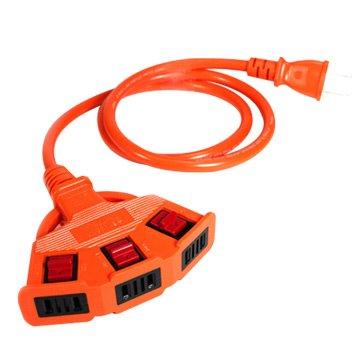 PowerSync 二孔式 安全鎖一擴三插延長線 5M