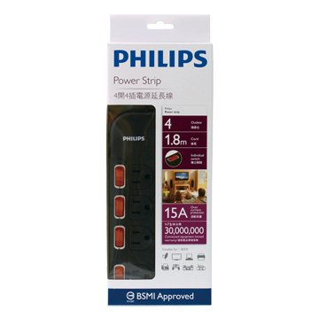 PHILIPS 飛利浦SPB1641BA/96 四開四插 1.8M