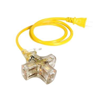 PowerSync 二孔式工業用一擴三插動力線 43M PW-G2PL34