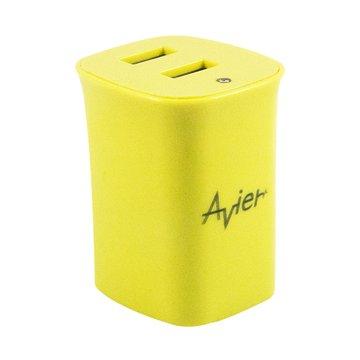 avier 2.1A雙孔USB旅行充電器