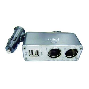 S.C.E 世淇車用點煙器1分2+USBx2