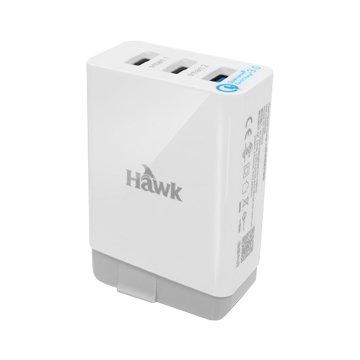Hawk QC3.0 USB三孔快速電源供應器