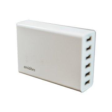 anidees 安億迪6 Port USB充電器 (Smart IC)