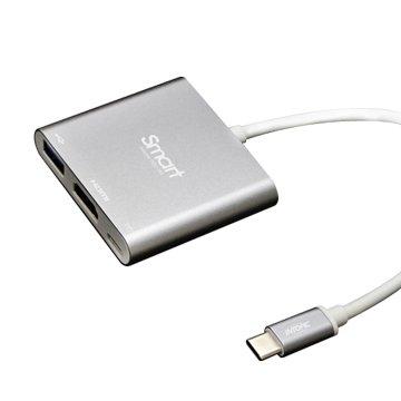 INTOPIC USB3.1 Type-C 三合一轉接器