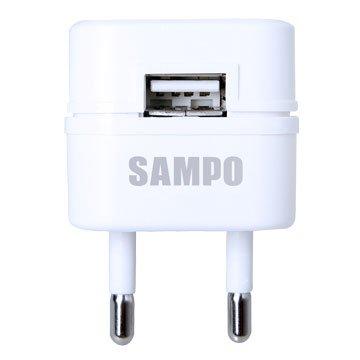 SAMPO 聲寶EP-UC0BU2-W 2A USB萬國充電器轉接頭