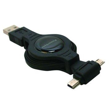 PowerSync 群加Micro USB+Mini 5Pin 傳輸線