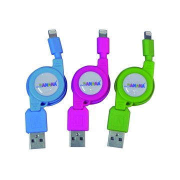 vision 創視USB A公/Lightning 彩色充電傳輸捲線