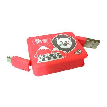 vision 創視USB A公/Micro USB方型充電傳輸伸縮線