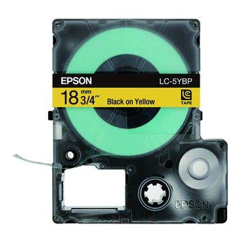 EPSON 愛普生LC-5YBP (18mm)黃底黑字粉彩標籤帶