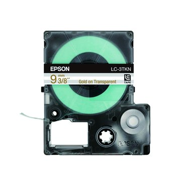 EPSON 愛普生LC-3TKN (9mm)金字透明標籤帶
