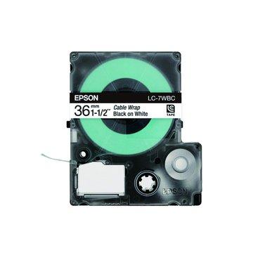 EPSON 愛普生 LC-7WBC (36mm)白底黑字線材標籤帶