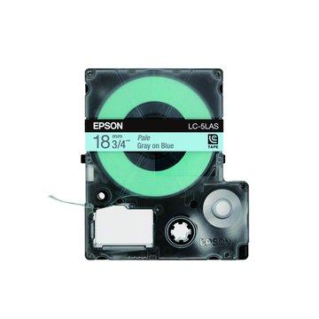 EPSON 愛普生LC-5LAS (18mm)藍底灰字淡彩標籤帶