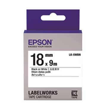 EPSON 愛普生LK-5WBN(18mm)白底黑字一般標籤帶