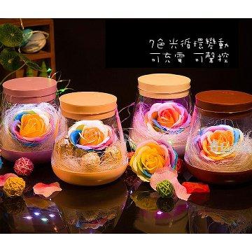 上鈺USBLED七彩夜瓶燈