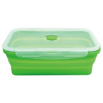 疊樂矽膠長型保鮮盒1.5L-綠