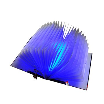 LEDUSB翻頁書本小夜燈-藍色