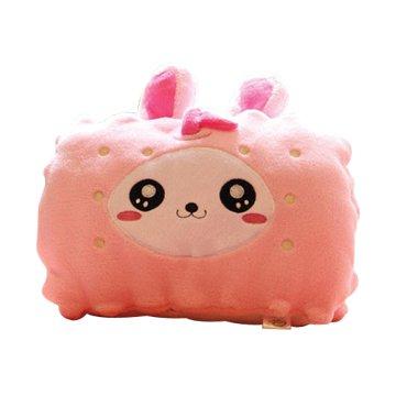 USB蘋果兔暖手抱枕