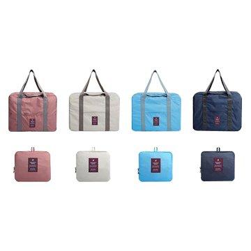 Lepont 斜紋純色反折疊旅行袋(不挑色)
