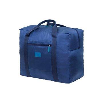 韓版防水尼龍折疊旅行袋-藍