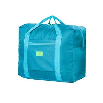 韓版防水尼龍折疊旅行袋-綠