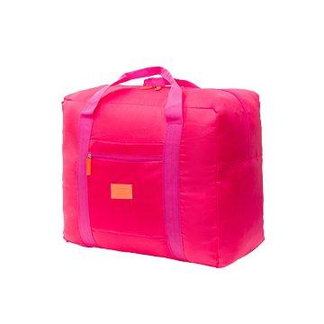 韓版防水尼龍折疊旅行袋-粉