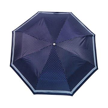 KINYO KU-9050C 三折銀膠晴雨傘(21吋/圓點)