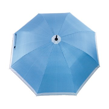 KINYO KU-8030C 黑膠印花晴雨傘(23吋/圓點)