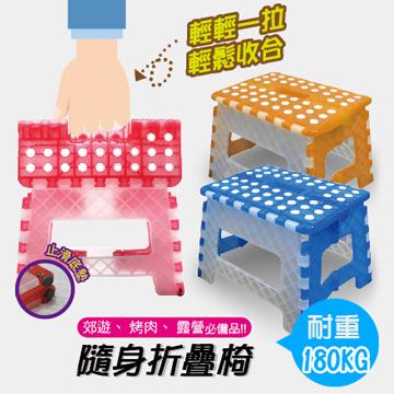 FS-016BW/ 藍白 / 止滑摺合椅
