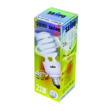 SAMPO 聲寶 LB-U21SDA 21W螺旋省電燈泡(白光)(福利品出清)