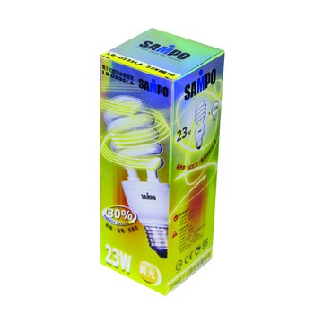SAMPO 聲寶 LB-U23SLA 23W螺旋省電燈泡(黃光)(福利品出清)