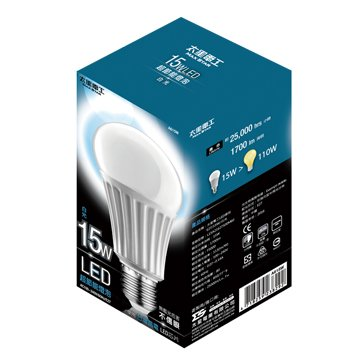 MAX STAR 太星A615W大廣角15W/E27/LED燈泡(白光)