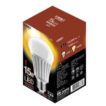 MAX STAR 太星 A615L大廣角15W/E27/LED燈泡(暖白)