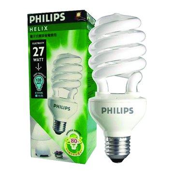 PHILIPS 飛利浦 HELIX-27WD 27W螺旋省電燈泡(白光)(福利品出清)