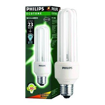 PHILIPS 飛利浦 PLEU-23WD 23W 3U省電燈泡(白光)(福利品出清)