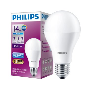 PHILIPS 飛利浦LED14W燈泡(白)