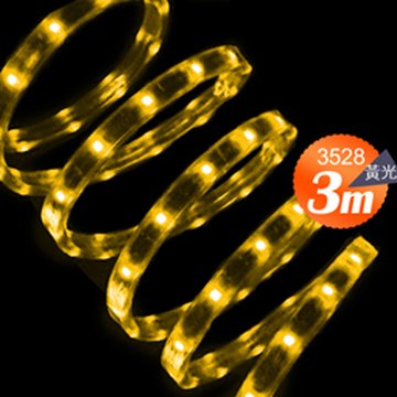 Link All 3528 18W/3米 60燈/LED黃光軟燈條(附變壓器)(福利品出清)