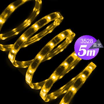 Link All 3528 30W/5米 60燈/LED黃光軟燈條(附變壓器)(福利品出清)