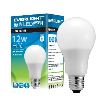 EVERLIGHT 億光 12W LED燈泡球(白光)