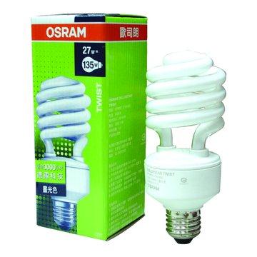 OSRAM 歐司朗 27W 螺旋省電燈管(黃光)(福利品出清)