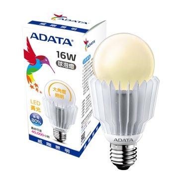 ADATA 威剛 16W 大角度LED球泡燈(黃光)